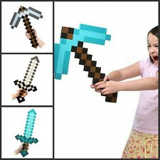 Diamond Blue Gray Gold Sword/Pickaxe-Foam Weapons&Tools For Kids Unisex Safe PS