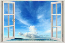 SEA KIDS ROOM 3D Window View Removable Wall Art Sticker Vinyl Decal Home Decor