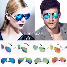 New 80s Vintage Womens Mens Aviator Mirror Lens Unisex Sunglasses Hot