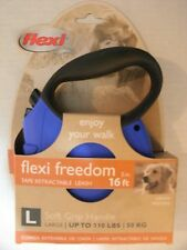 Brand New Flexi Freedom Retractable Dog Leash  Size L Colors Black,Pink & Blue