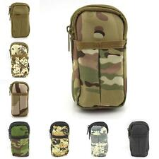 Military Cellphone Pouch 2 Layers Travel Mobile Phone Carrying Pouch Waist Pack