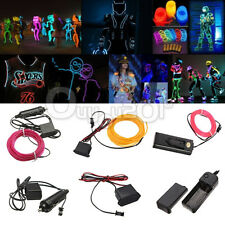 1M 2M 3M 4M 5M 10 colors 3 controller Flexible EL Wire Neon Glow Light Xmas Deco
