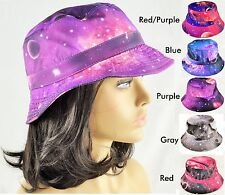 Galaxy Bucket Hat Boonie Hunting Fishing Outdoor Cap Mens Womens Sun Camping