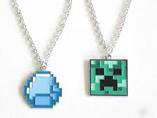 Minecraft Necklaces CREEPER AND DIAMOND Plus SPECIAL OFFER FOR BOTH £4.99 TO..
