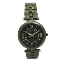 Ceramic and Stainless Steel Quality Geneva Mother of Pearl Roman Unisex Watch