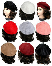 New Women Warm Wool Blend Fashion Classic French Beret Tam Beanie Slouch Hat Cap