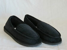 Mens Slippers  House Indoor Comfort Shoe Corduroy Moccasin Slip On Outdoor Black