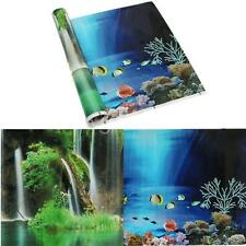 3 Size Double Sided Aquarium Landscape PP Poster Fish Tank Background Wall Decor