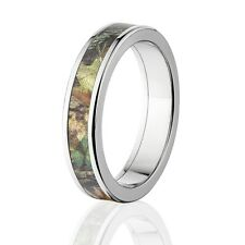Camo Rings, Mens Camo Wedding Bands, Licensed Mossy Oak New Break Up Rings