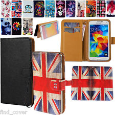 "Universal Wallet Card Slot Leather Stand Case Cover 3.0"" to 6.0"" Mobile Phones"