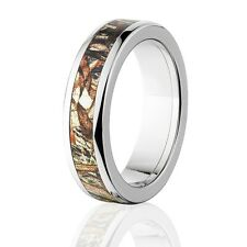 Camo Rings, Mens Camo Wedding Bands, Licensed Mossy Oak Duck Blind Rings