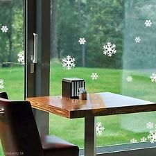 Beautiful Home Bar Market Party Christmas Window Snow Decor Sticker Decal Paster