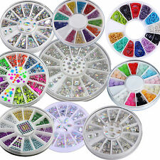 40 Colors Nail Art Rhinestones Glitters Acrylic Tips Decoration Manicure Wheel