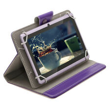 """8GB iRULU eXpro 7"""" Android 4.4 Kitkat Tablet Quad Core Dual Cam Purple w/ Case"""