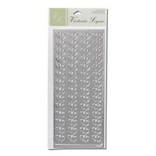 56pc Double Heart Gold or Silver Foil Wedding Stickers Victoria Lynn