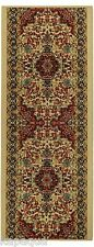 Custom Size Stair Hallway Runner Rug Rubber Back Non Skid Ivory Persian #5032
