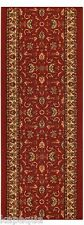 Custom Size Stair Hallway Runner Rug Rubber Back Non Skid Red Persian #5080