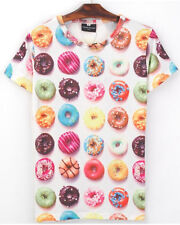Colorful Circle Donut Biscuit Dessert Paint Fun Cute Galaxy Sexy T-shirt Tee Top