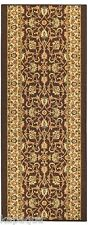 Custom Size Stair Hallway Runner Rug Rubber Back Non Skid Brown Persian #88