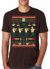 Zombie Ugly Sweater T Shirt Funny Christmas Shirt Undead Xmas Tee
