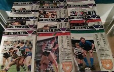 1992 Hull FC Home Programmes v Your Choice