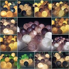 20 COTTON BALL STRING LIGHTS CHRISTMAS PARTY WEDDING BEDROOM DECORATION