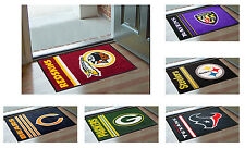 New NFL Football Team Logo Themed Man Cave Room Floor Rug Carpet Door Bath Mat