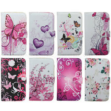 Pretty For Samsung Galaxy SIV S4 i9500 Leather Flower Stand Wallet Case Cover