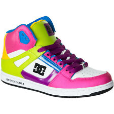DC REBOUND HI Womens Shoes (NEW w/ FREE SHIP) Sizes 6-9.5 WHITE PINK High Tops