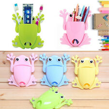 4Colors Cute Frog Toothbrush Holder Hook Makeup Tools Wall Stick Paste Organizer