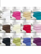"""Non Iron Percale Fitted Sheets Single Double King Super King """"Top Quality"""""""