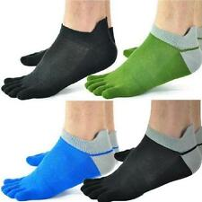 1/5 Pairs Men's Mesh Socks Pure Cotton Sports Five Seperate Finger Toe Socks