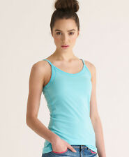 New Womens Superdry Strappy Boy Tank Top Fresh Water Blue
