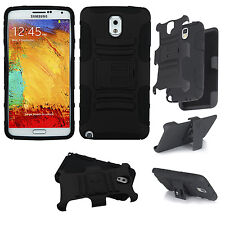 FOR SAMSUNG GALAXY NOTE 3 NEO LITE N7505 RUGGED ARMOR BUNKER CASE COVER HOLSTER