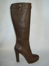 STIVALE DONNA marrone 100%VERA PELLE 36/37/38/39MADE ITALY FOD.PELLE-CHERRY-BOOT