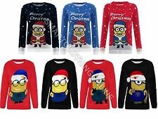 CHILDRENS KIDS BOYS GIRLS DAVE MINION CHRISTMAS JUMPER  5-12 YEARS