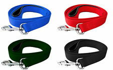 1.5m Nylon Dog Lead Padded Soft Grip 4 Colours Blue Red Green Black Free Postage