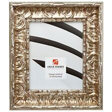 """Craig Frames  Arqadia Vintage, 2.75"""" Shabby Chic, Rustic Silver Picture Frame"""