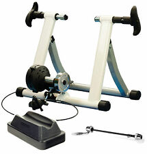 NEW CYCLE TURBO TRAINER INDOOR EXERCISE BIKE MAGNETIC RESISTANCE TRAINING WHITE