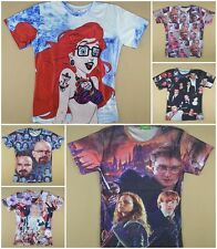Fashion Print 3D sexy girl harry potter celebrity T-shirt short sleeve tee top