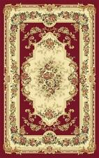 2857  Burgundy Green Ivory Victorian Oriental Area Rugs Carpet Lots of sizes blk