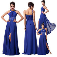 CHEAP Vintage Blue Party Masquerade Evening Long Ball Prom Gown Halter Dress