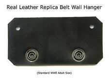 Adult / Kids / Custom Replica Belt Wall Hanger Made of Real Leather WWE TNA ECW