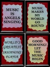 MUSIC REFRIGEATOR MAGNETS JAZZ COUNTRY INSPIRATIONAL PIANO DRUMS SAYINGS GIFTS