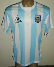 NEW VINTAGE WORLD CUP 1986 ARGENTINA MARADONA #10 RETRO HOME SOCCER JERSEY SHIRT