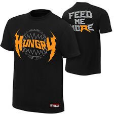 Ryback HUNGRY FEED ME MORE Black WWE Authentic T-Shirt Official Licensed & NEW