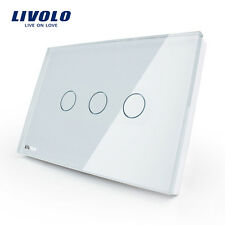 Livolo New US Type AC110-250V 3 Gang 1 Way Wall Light Remote Touch Dimmer Switch