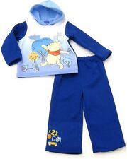 Disney Winnie The Pooh Hooded Pull Over Fleece Royal Blue Boys Infant & Toddlers