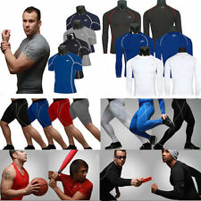 Mens Thermal Compression Under Skins Tights Fitness Base Layer Tops Shirts/Pants