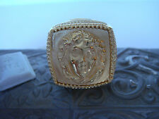 TAGLIAMONTE OUTLET ~ Bronze W/22K YGP Ring ~ Medusa VERY LARGE DESIGN